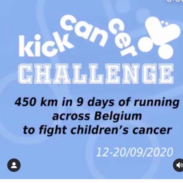 Collecte pour kicker le cancer des enfants