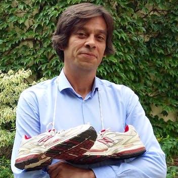 Nicolas running for cancer-kicking